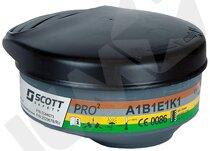 Pro2 ABEK1 kulfilter t/Profile2, sort, 2 stk