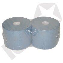 Industrirulle - standard, Blå, 2-lags, 22cm x 380m, 1000 ark