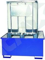 Blå stål kar t/IBC tanke, 1 stk IBC