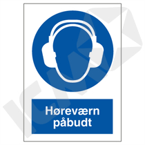 P204 V Høreværn påbudt A4