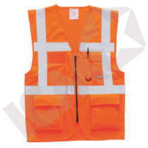 Executive vest EN 20471 kl. 2, orange