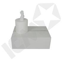 Mini Centerrulle, 1-lags Hvid retur u/hylse, 120m