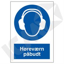 P204VA4 Høreværn påbudt  A4