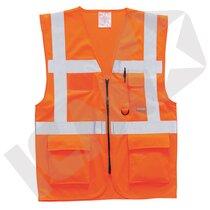 Executive vest EN 20471 kl. 2, orange