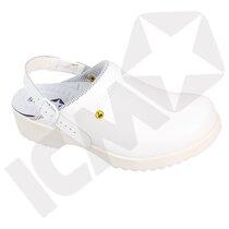 BlueStar SafetyStep 150 tøffel m/fast hælrem hvid