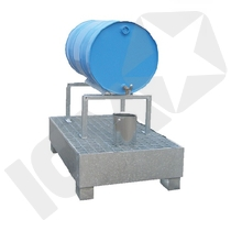 Lacont Tromlebuk galvaniseret 200 liter 1 tromle