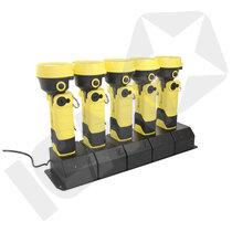 Røgdykkerlygter 5 stk L-3000 inklusiv Lader 12/24V