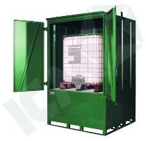 Miljøcontainer til 4 Tromler eller IBC