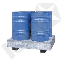 Lacont Opsamlingskar Galvaniseret Stål & Rist 4 Tromler