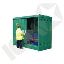Miljøcontainer i Stål til Udendørs Brug 8 Tromler