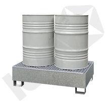 Lacont Opsamlingskar Galvaniseret Stål & Rist 2 Tromler