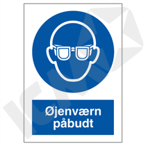 P202PA5 Øjenværn påbudt  A5