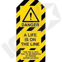 Brady Tag-E-A Life is on the Line pk/10 stk