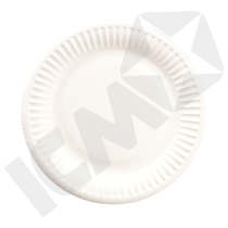 Paptallerken 15 cm Hvid 20x100 stk