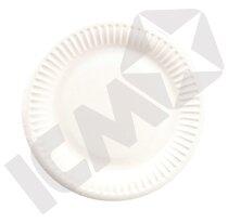 Paptallerken 23 cm Hvid 10x100 stk